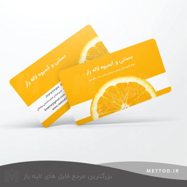 کارت ویزیت شخصی طرح 201