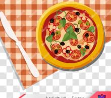 عکس png پیتزا کارتونی طرح 19