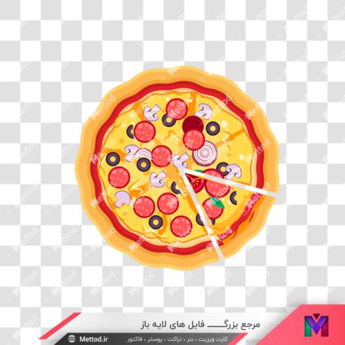 عکسpng پیتزا کارتونی طرح 23