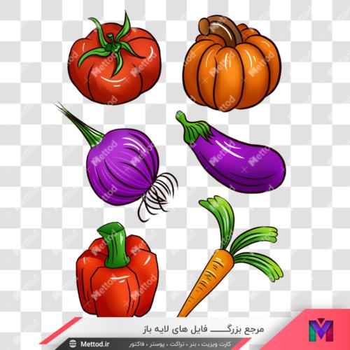 عکی png هویج و گوجه و صیفی جات طرح 37