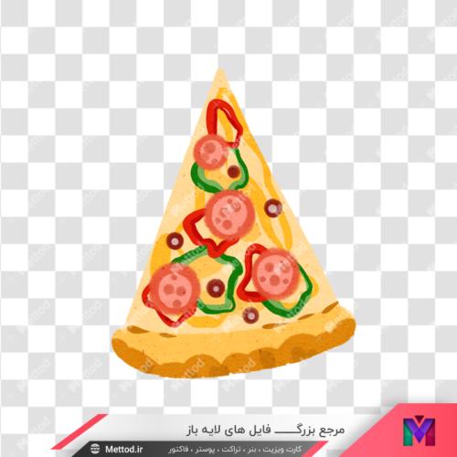عکس قاچ پیتزا png طرح 50