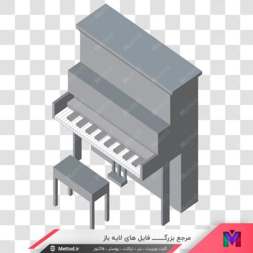 عکس png پیانو طرح 109