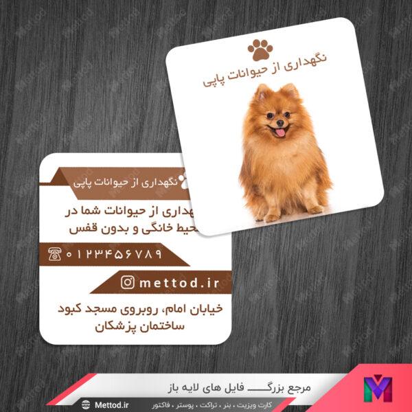 کارت ویزیت حیوانات خانگی