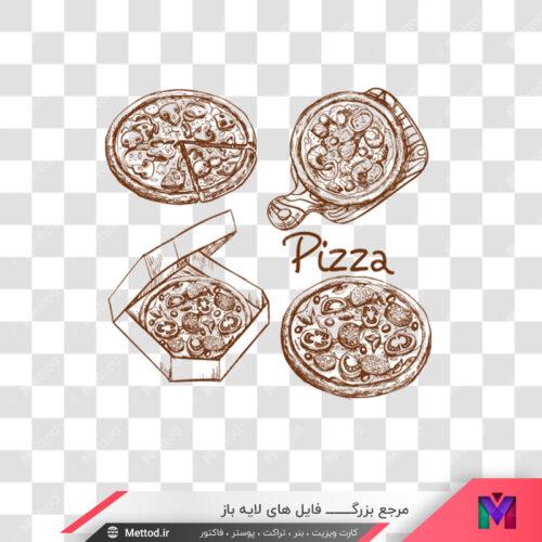 عکس png پیتزا طرح 315