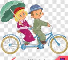وکتور دوچرخه سواری طرح 99