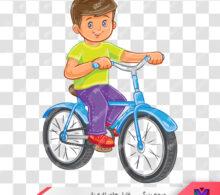 وکتور بچه و دوچرخه طرح 113