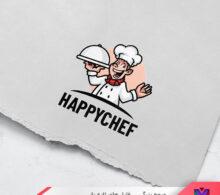 لوگو آشپز شاد طرح 378